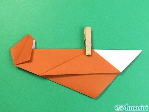 折り紙でラッコの折り方手順23