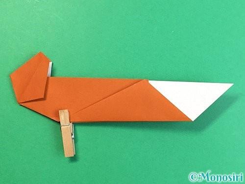 折り紙でラッコの折り方手順25