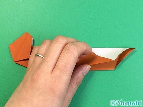 折り紙でラッコの折り方手順28