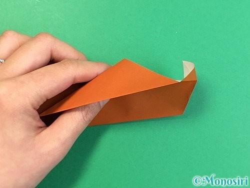 折り紙でラッコの折り方手順30