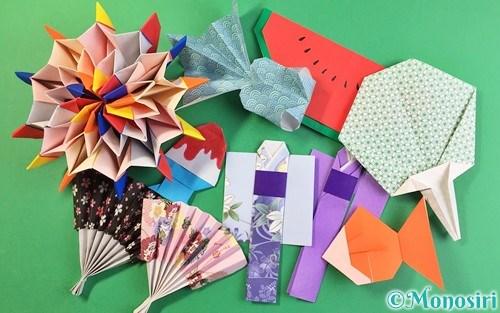 折り紙で作った夏祭りの飾り