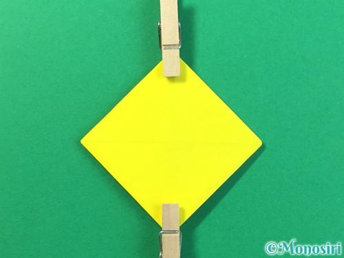 折り紙でひまわりの折り方手順35