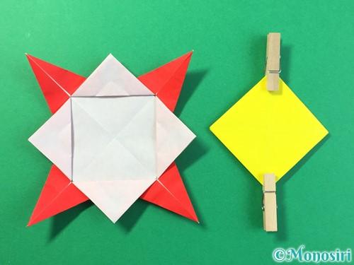 折り紙でひまわりの折り方手順36