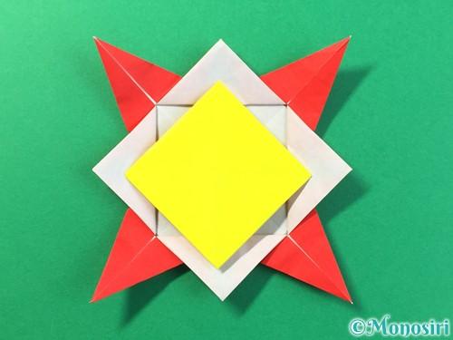 折り紙でひまわりの折り方手順37