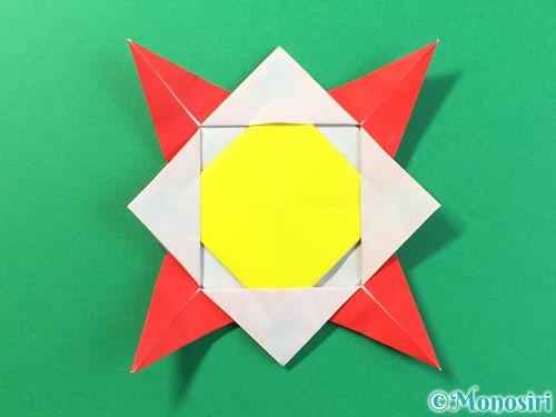 折り紙でひまわりの折り方手順39