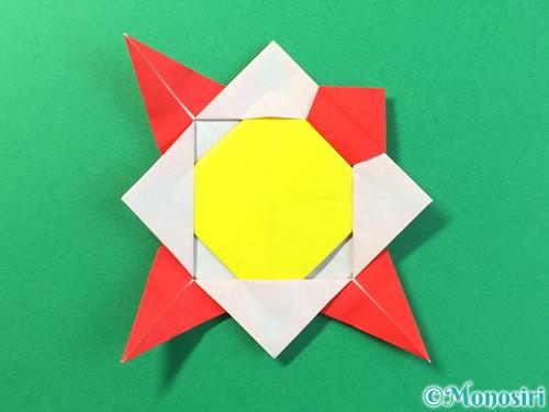 折り紙でひまわりの折り方手順41