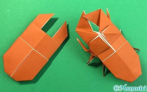 折り紙で作ったクワガタ