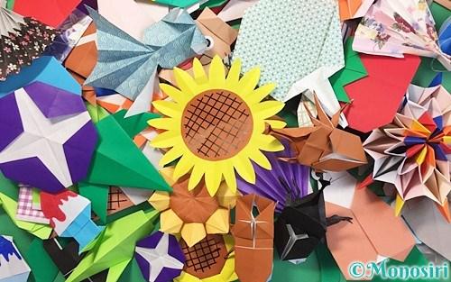 折り紙で作った夏の飾り