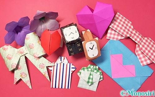 折り紙で作った敬老の日の飾り