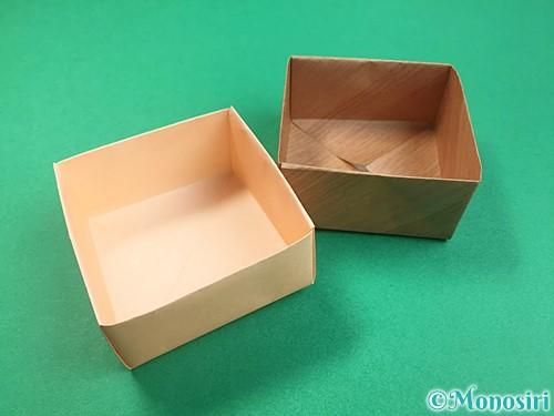 折り紙で箱の折り方手順19