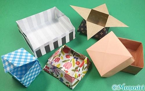 折り紙で折った箱