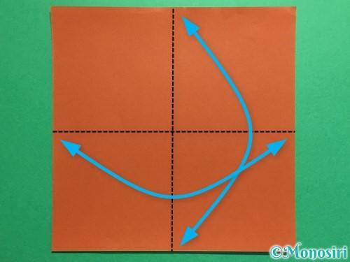 折り紙で立体的なひまわりの折り方手順1