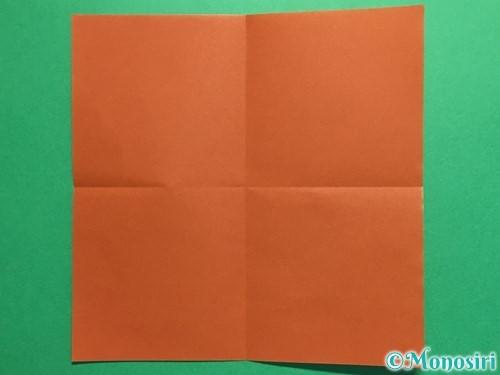 折り紙で立体的なひまわりの折り方手順2