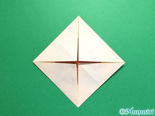 折り紙で立体的なひまわりの折り方手順8
