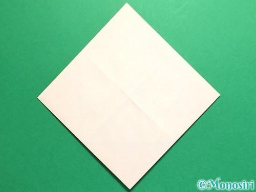 折り紙で立体的なひまわりの折り方手順9