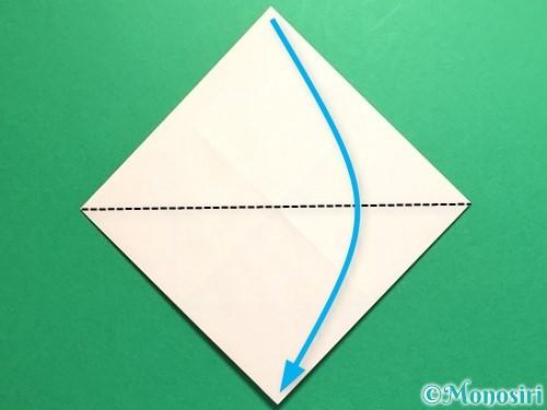 折り紙で立体的なひまわりの折り方手順10
