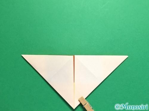 折り紙で立体的なひまわりの折り方手順11