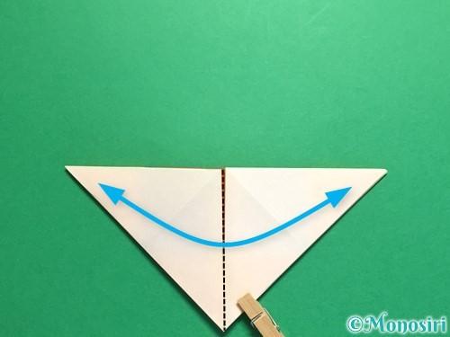 折り紙で立体的なひまわりの折り方手順12