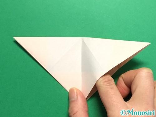 折り紙で立体的なひまわりの折り方手順14