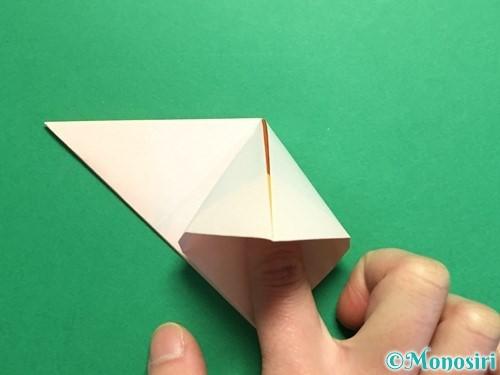 折り紙で立体的なひまわりの折り方手順15