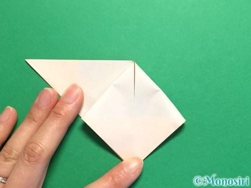折り紙で立体的なひまわりの折り方手順16