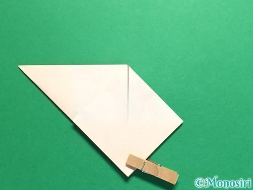 折り紙で立体的なひまわりの折り方手順17
