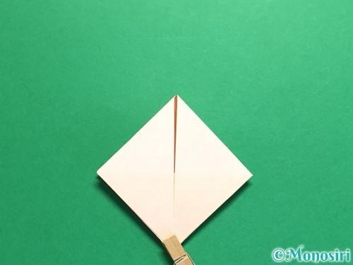 折り紙で立体的なひまわりの折り方手順18