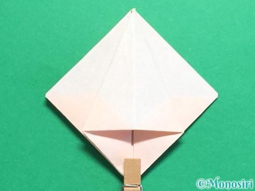 折り紙で立体的なひまわりの折り方手順21