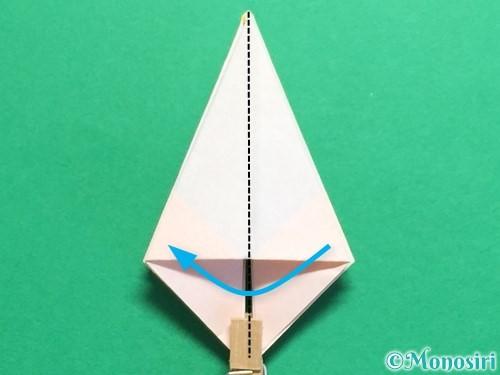 折り紙で立体的なひまわりの折り方手順23