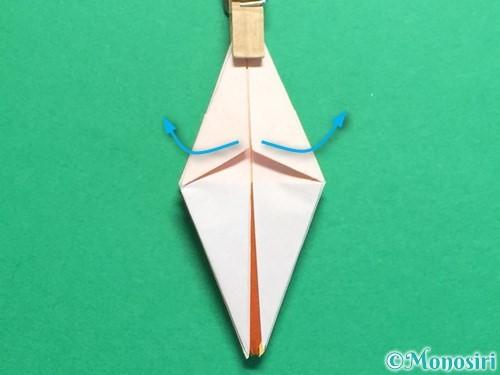 折り紙で立体的なひまわりの折り方手順29