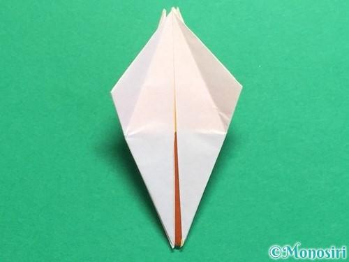 折り紙で立体的なひまわりの折り方手順30