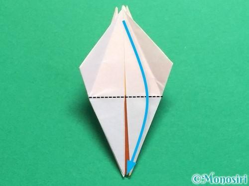 折り紙で立体的なひまわりの折り方手順31