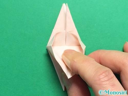 折り紙で立体的なひまわりの折り方手順33