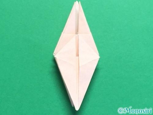 折り紙で立体的なひまわりの折り方手順35