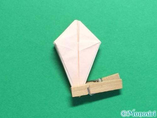 折り紙で立体的なひまわりの折り方手順36