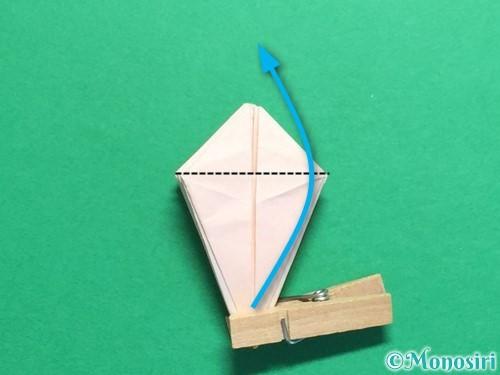 折り紙で立体的なひまわりの折り方手順37