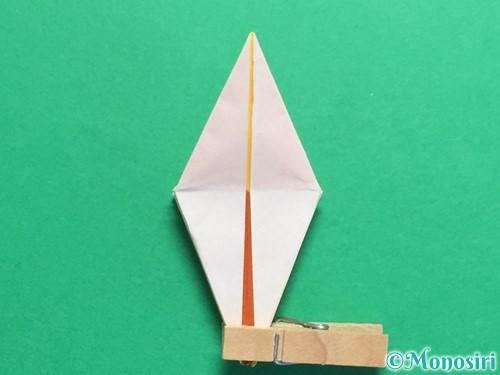 折り紙で立体的なひまわりの折り方手順38