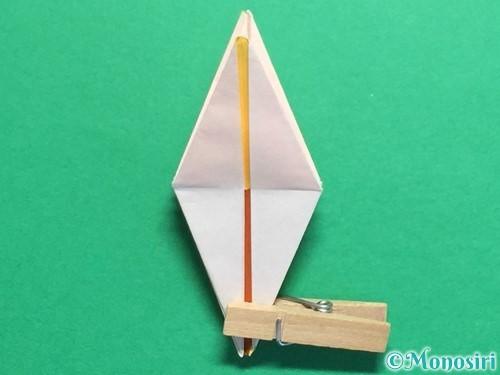 折り紙で立体的なひまわりの折り方手順39