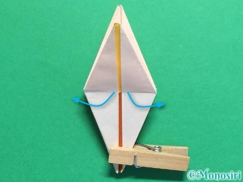 折り紙で立体的なひまわりの折り方手順40