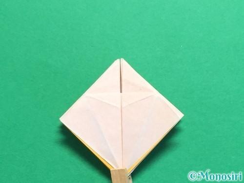 折り紙で立体的なひまわりの折り方手順45
