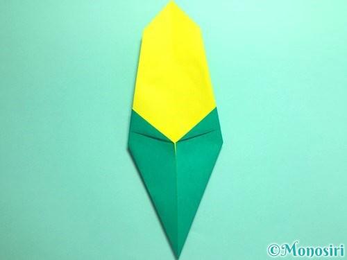 折り紙でとうもろこしの折り方手順10
