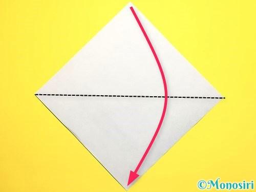 折り紙でピーマンの折り方手順1