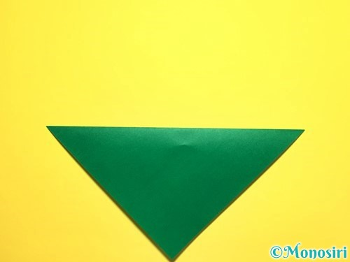 折り紙でピーマンの折り方手順2