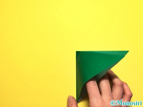折り紙でピーマンの折り方手順5