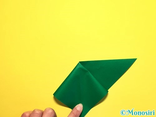 折り紙でピーマンの折り方手順7