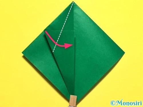 折り紙でピーマンの折り方手順14