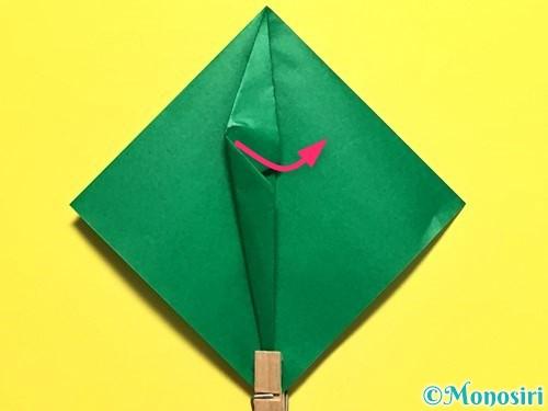 折り紙でピーマンの折り方手順18