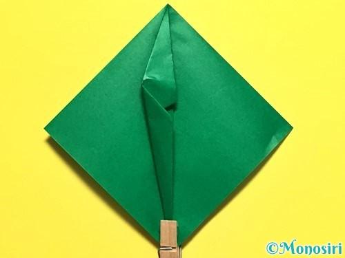 折り紙でピーマンの折り方手順17