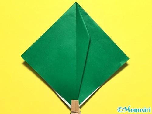 折り紙でピーマンの折り方手順19