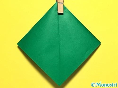 折り紙でピーマンの折り方手順21